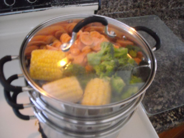 veggies, steamer, stainless steel, joyce chen