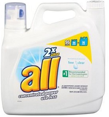 All free clear detergent, hypoallergenic detergent, hives