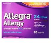allegra, antihistamine, hives