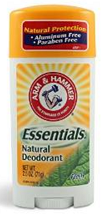 aluminum free deodorant, arm and hammer